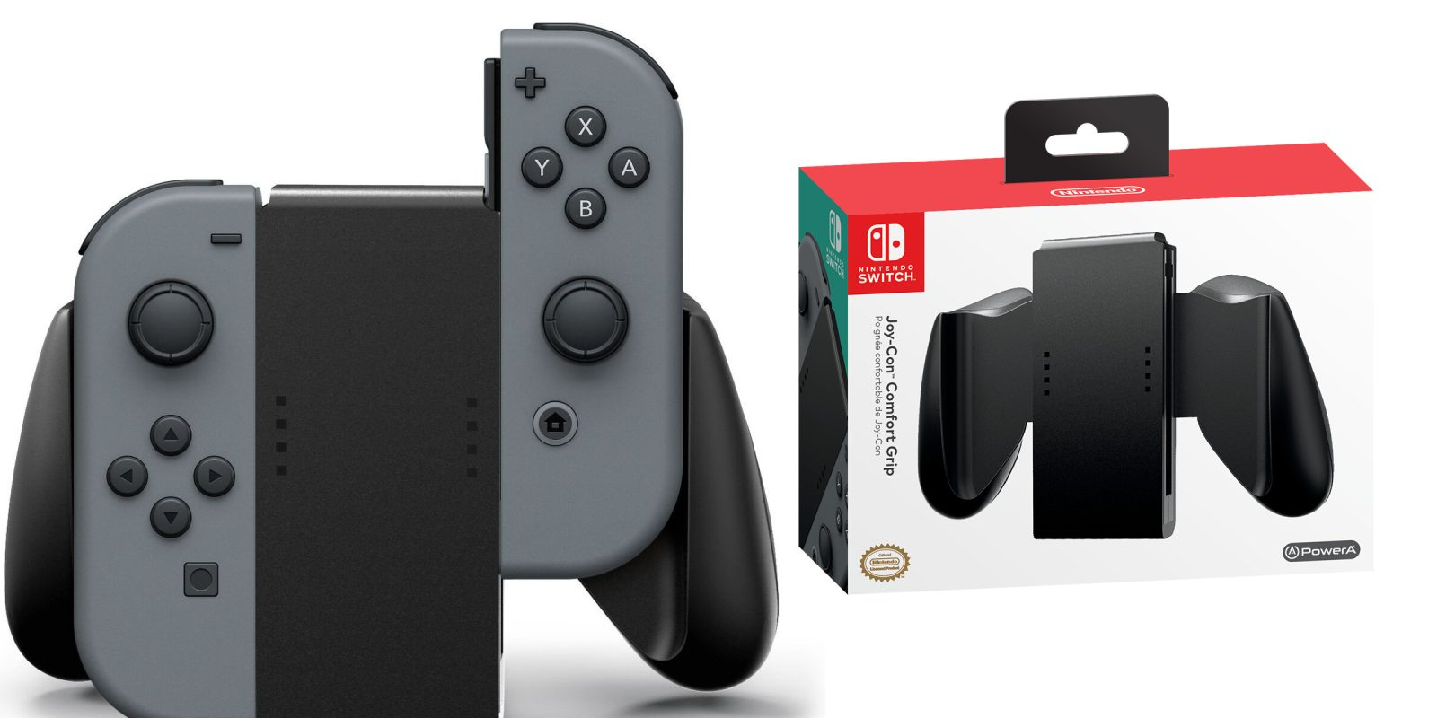 Nintendo Switch Joy Con Comfort Grip By Powera Under 10 Prime Controllers Grey Shipped