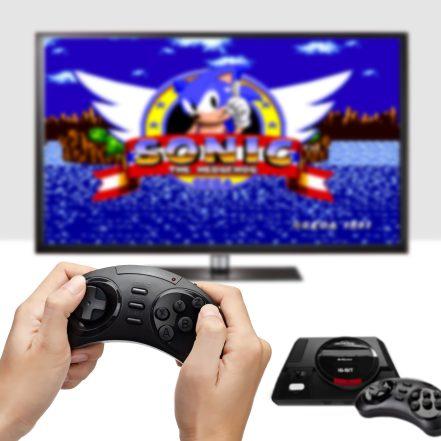 Sega Genesis Flashback (FB3680)- Console and TV