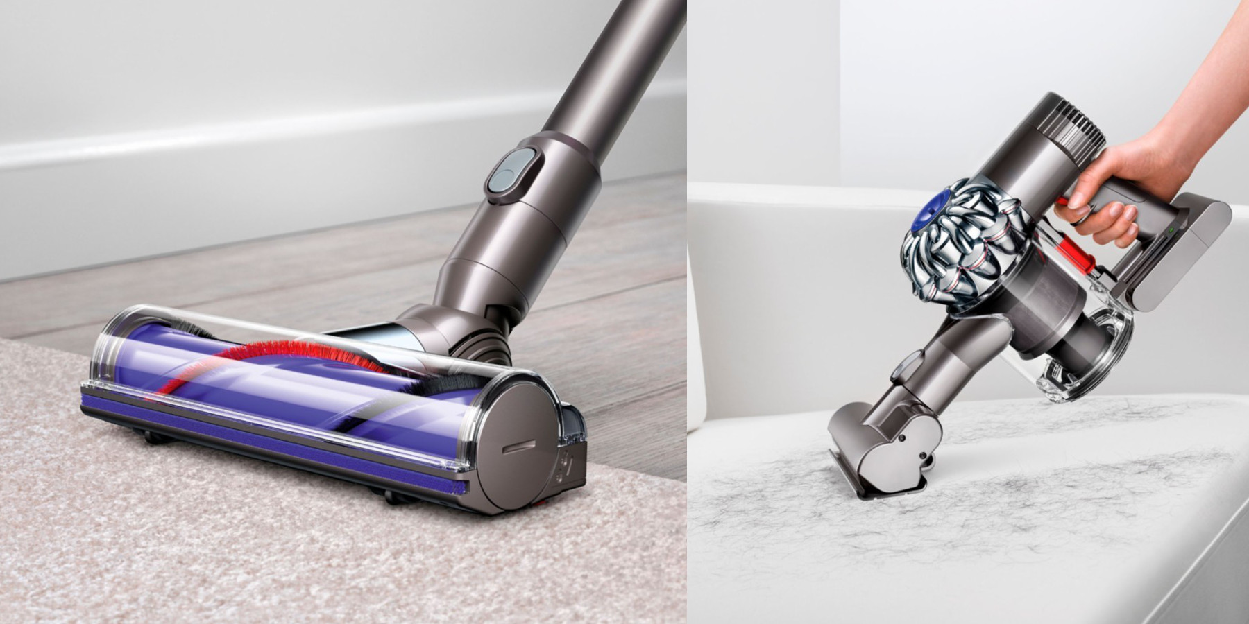 Image of: Attachments Dyson V6 Animal Cordless Stick Vac Drops To 200 For Today Only reg 280 9to5toys Dyson V6 Animal Cordless Stick Vac Drops To 200 For Today Only reg
