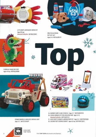 Amazon toy book ad for 2018
