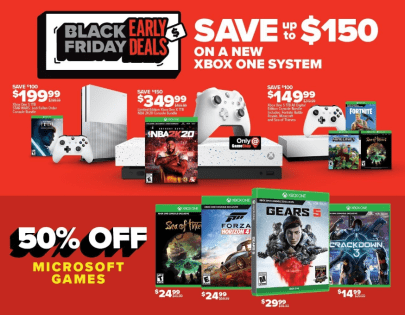 GameStop Black Friday preview Xbox