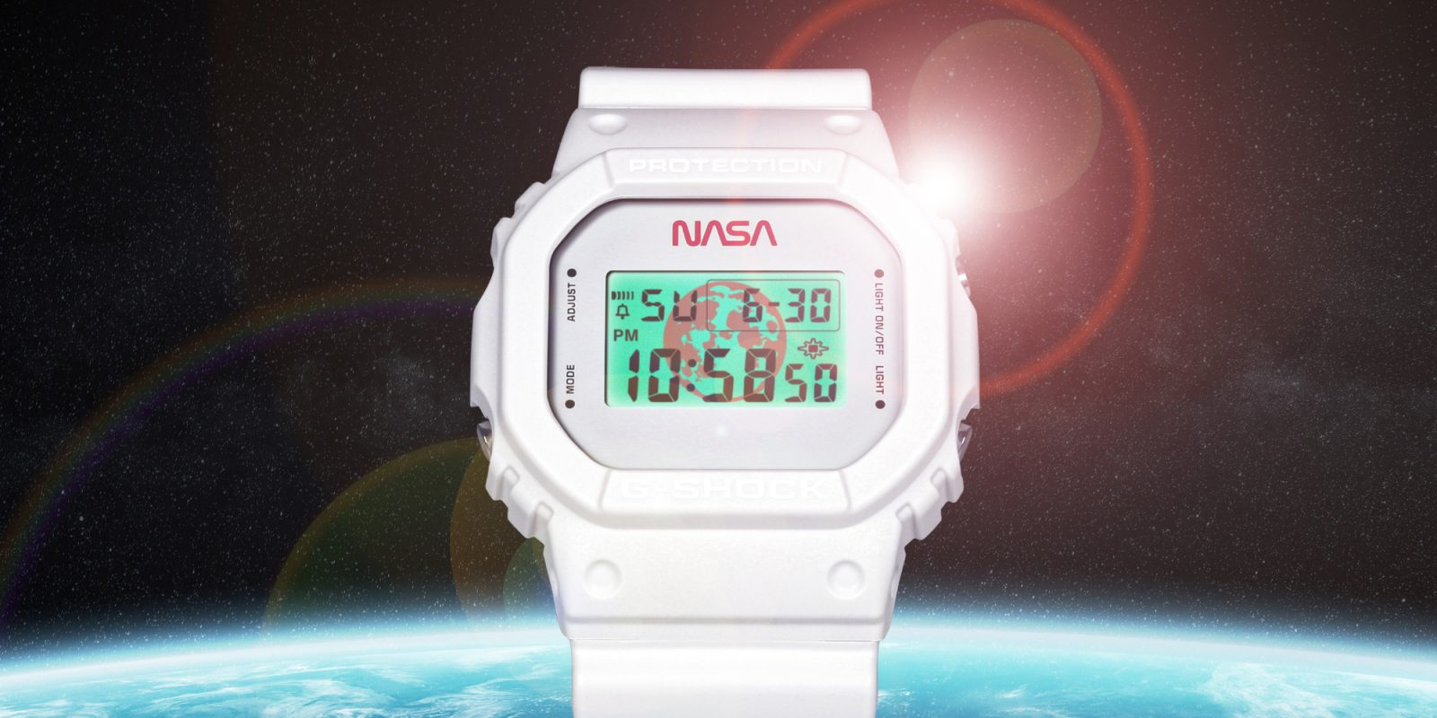 Limited-Edition Casio NASA G-SHOCK features all-white ...