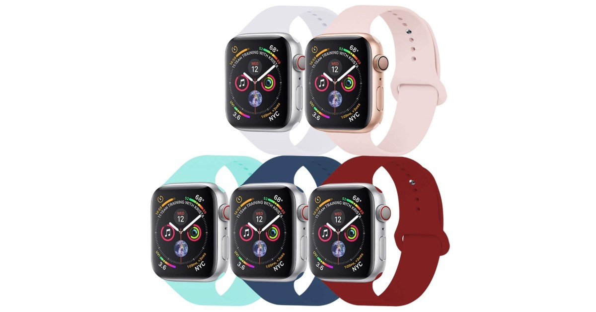 Score five Apple Watch sport bands for just $10 and save 38% - 9to5Toys