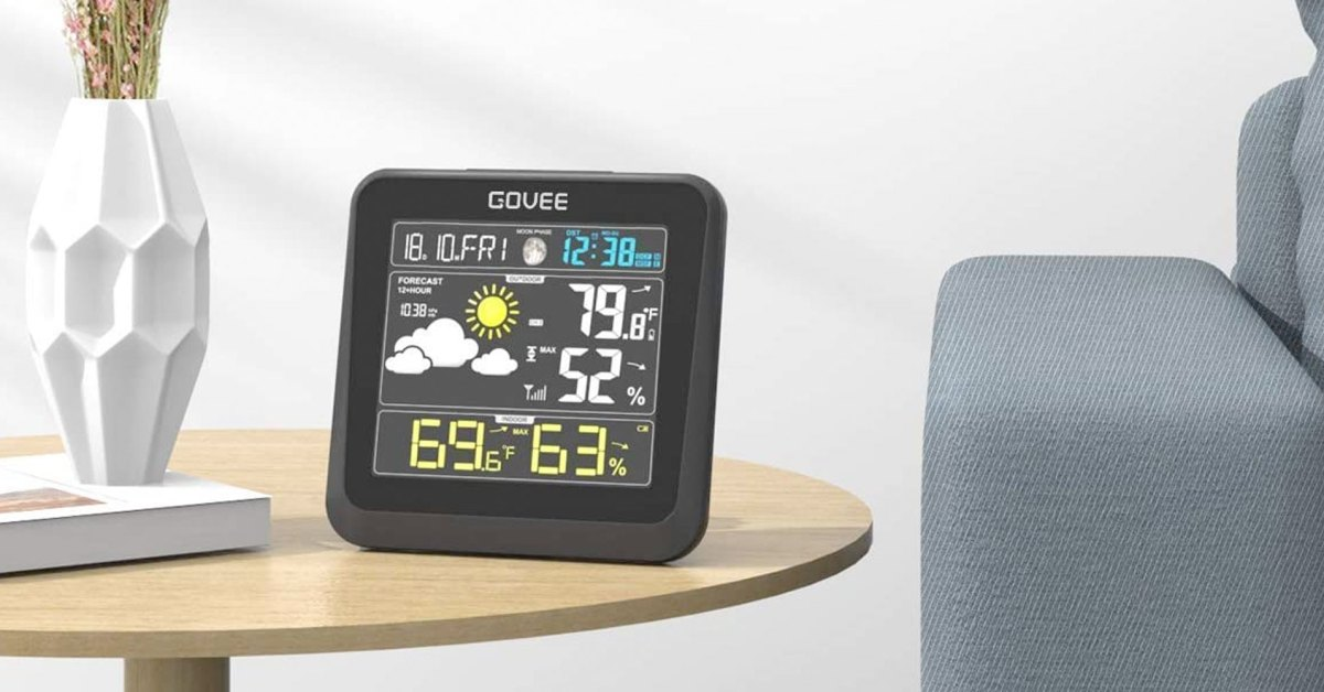 Govee's indoor/outdoor weather station displays temp, humidity, more at a low of $22 (Reg. $33) - 9to5Toys