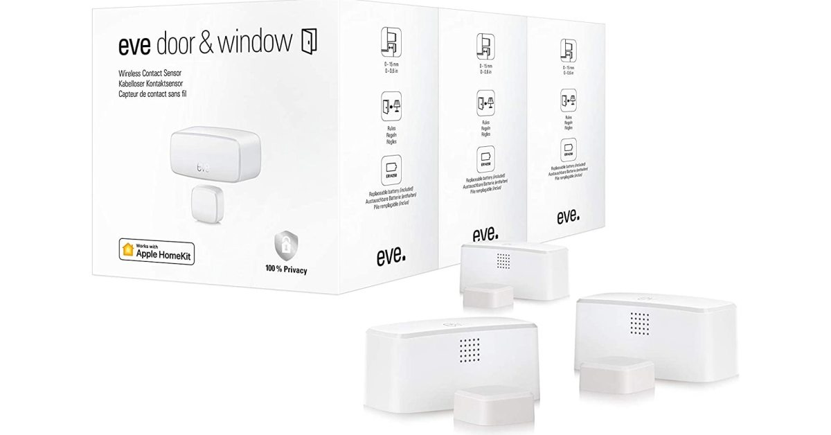 Eve's Thread-based Door/Window sensors see second discount down to under $90 for three - 9to5Toys