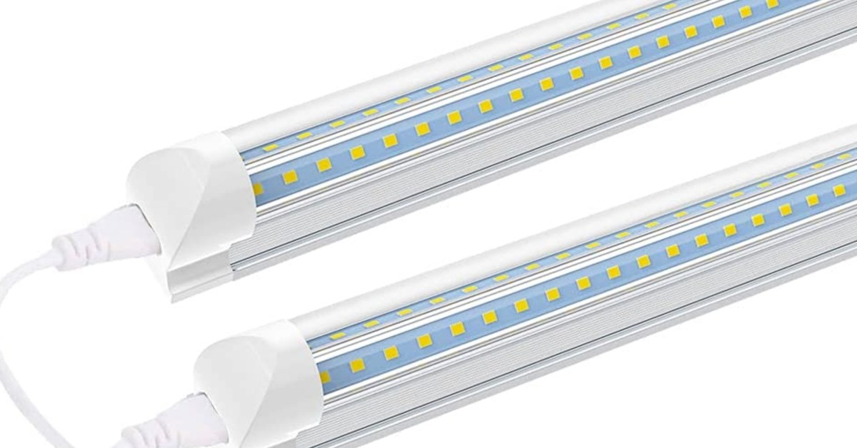 Upgrade your workbench with a 2-pack of 1,680-lumen LED light fixtures at $18 (Save 40%)
