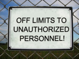 off limits sign