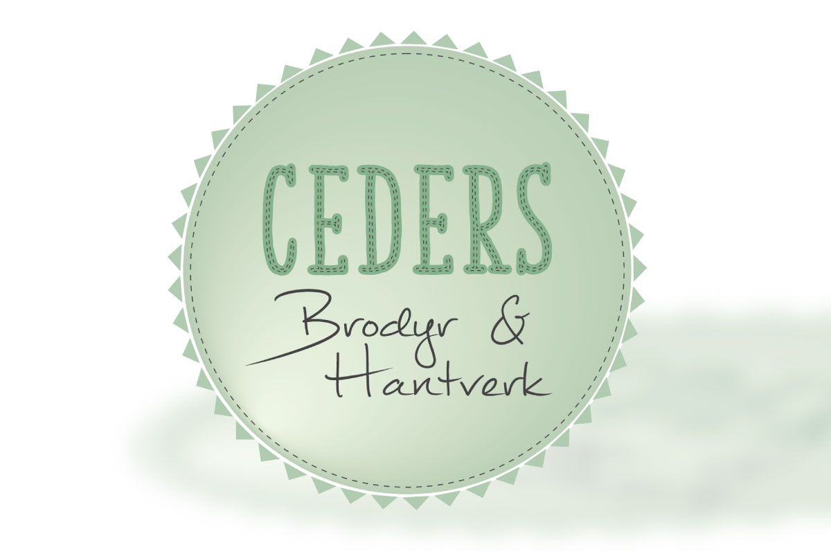 grön rund logotyp  Ceders Brodyr   Hantverk logotyp 379f855430474