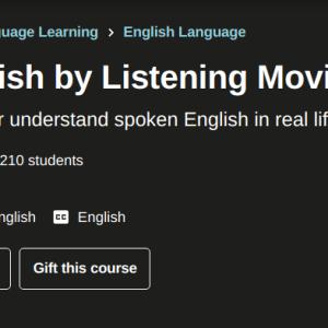Udemy Improve English by Listening Movies – 1b