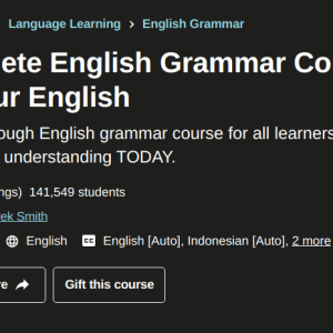 Udemy The Complete English Grammar Course - Perfect Your English