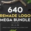 Creative Market 640 Premade Logos Mega Bundle Free Download- 9WSO Download