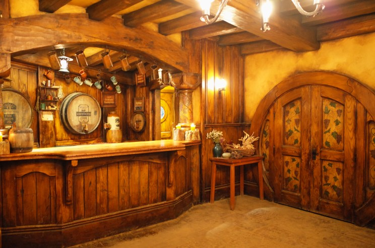 Inside the Green Dragon Inn at Hobbiton