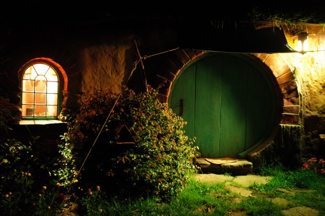 Hobbiton at night