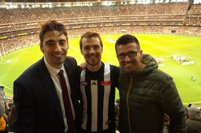 At Richmond vs Collingwood at the MCG in Melbourne
