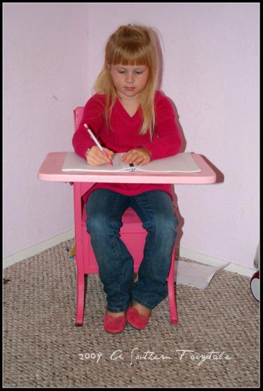 princess at desk