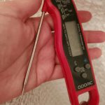 Digital Instant Read Meat Thermometer, Adoric Waterproof Food Thermometer with Backlight LCD, Kitchen Cooking Thermometer Probe for Grilling Oven Smoker BBQ(Red) photo review