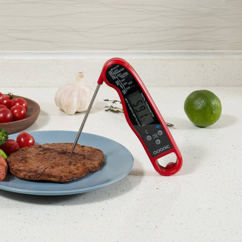 ADORIC Oven Thermometer, Digital Meat Thermometer, Instant Read