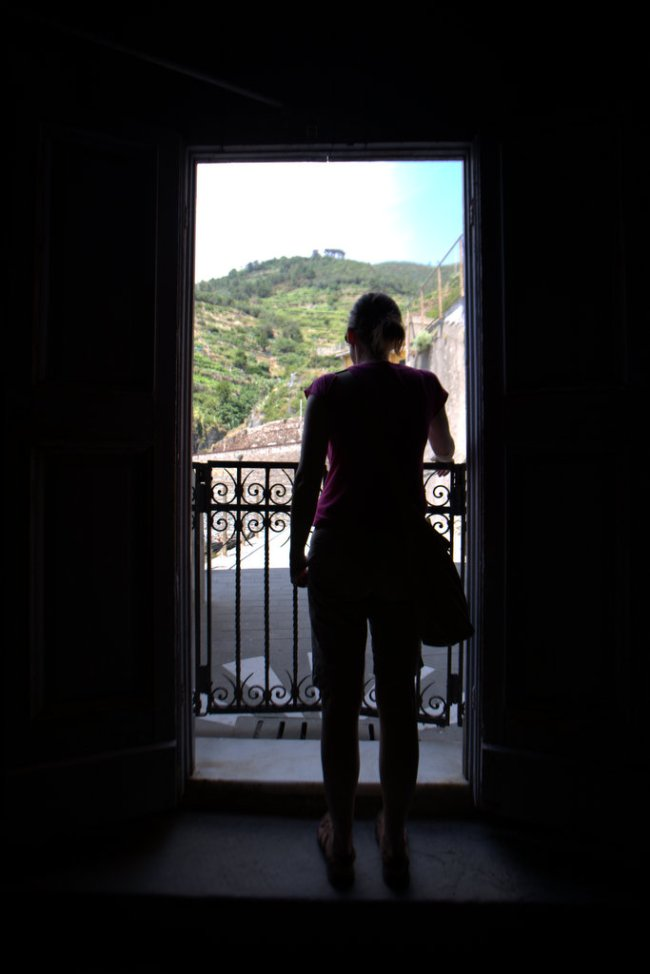 Andrea looking out