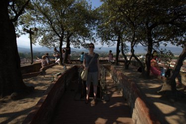On top of Torre Guinigi