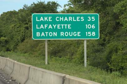 Almost to Lake Charles