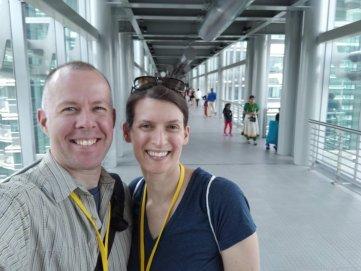 Kirk & Andi on the Skybridge