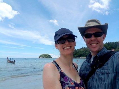 Andi & Kirk at Kata Beach in Phuket