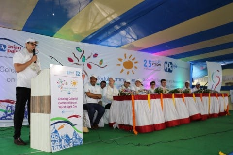 17727528 G - PPG, Essilor Celebrate Launch of COLORFUL COMMUNITIES Project at Susrut Eye Foundation and Research Centre in Kolkata, India