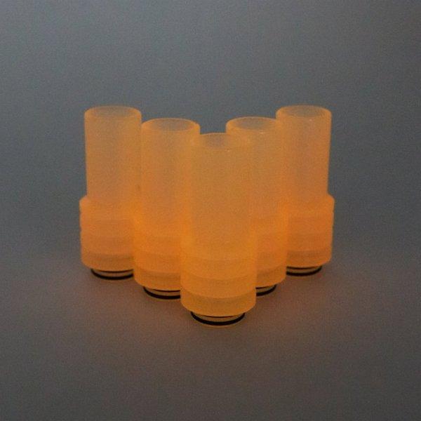 Frosted Orange UV Sniper Drip Tip in the dark