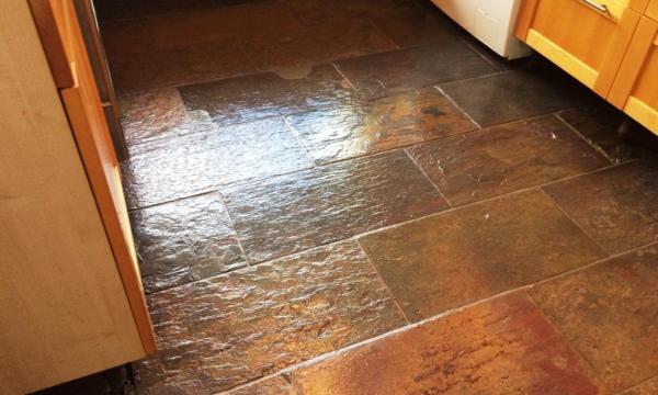 Slate Kitchen Floor After Restoration in Windsor