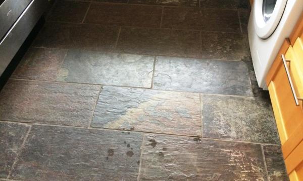 Slate Kitchen Floor Before Restoration in Windsor