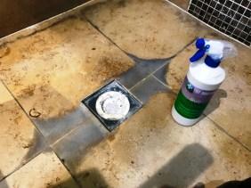 Limestone Shower During Renovation Sonning Eye