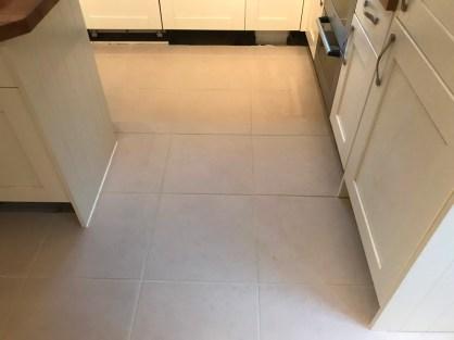 Porcelain Tiled Kitchen Floor After Renovation Binfield