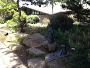 Otter sculpture in Bainbridge Library garden. The Library is the site of the Teen Writing Camp.