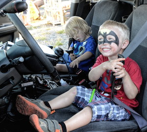 At Night Out, kids can climb aboard a police car, fire truck, police boat and more.