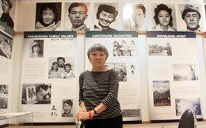 Lilly Kodama at the Bainbridge Island Historical Museum