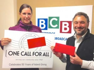 Holly Rohrbacher, Executive Director, and Bruce Weiland, President of the Board, of One Call for All.