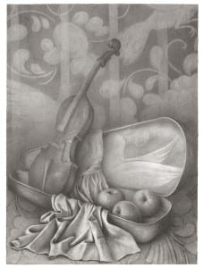 Rachel Feferman: Golden Hands Series, Drawing 36 (pencil and graphite on paper).