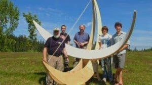 A full-scale model of the community funded sundial that BPAA will soon be erecting near the telescope.