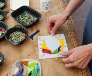 Fused glass making is taught at the BARN