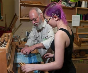 Weaving is enjoyed by all ages at the BARN