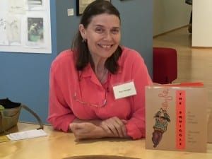 Pierr Morgan with one of her illustrated books