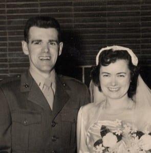 Reid and Barbara Hansen at their wedding in 1953