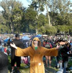 Old Hippie live on 4/20/2013 at Hippie Hill in San Francisco Copyright 2013 Felicity