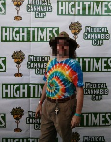 Old Hippie at the High Times Cannabis Cup