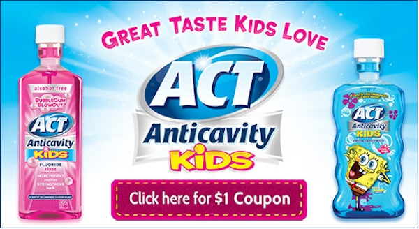 $1 Off Coupon on ACT Anticavity