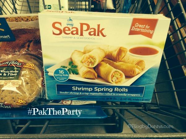 SeaPak Shrimp Spring Rolls holiday appetizers #PaktheParty #shop #cbias