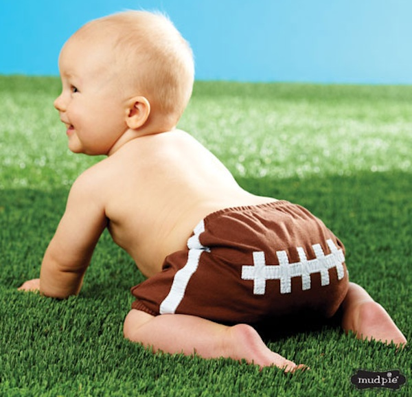 Baby Fan Clothes Football Diaper Cover
