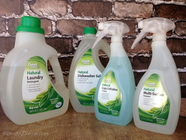 Great Value Naturals green cleaning products from Walmart