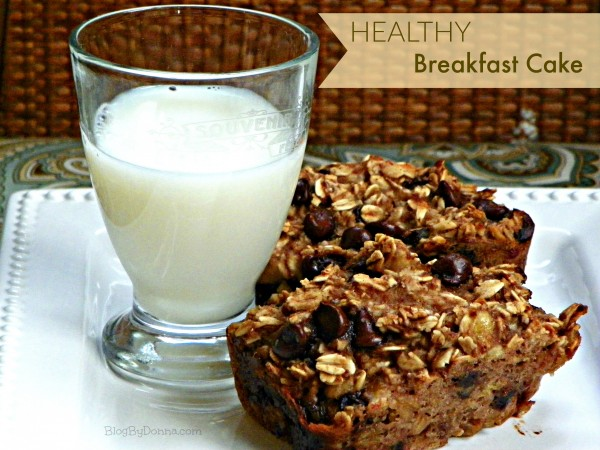 healthy chocolate chip breakfast cake