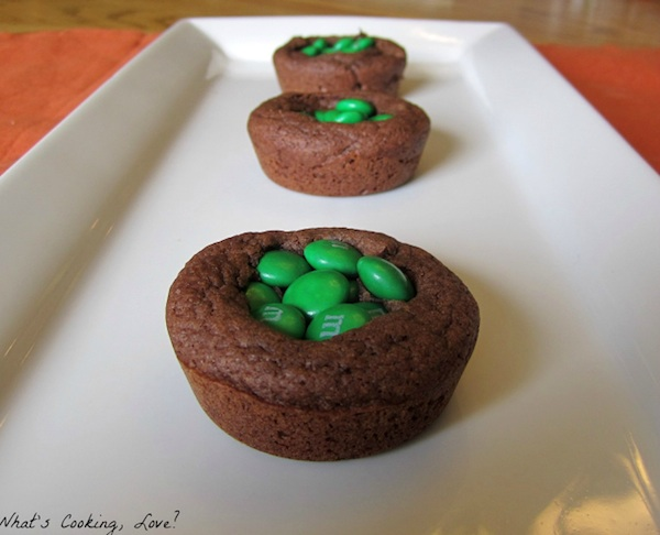 M & M chocolate cookie cups